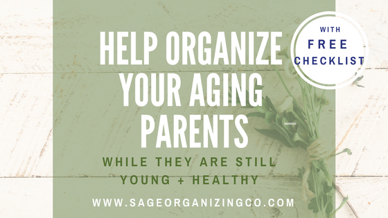 Help Organize Your Aging Parents While They are Still Young + Healthy / with FREE PRINTABLE