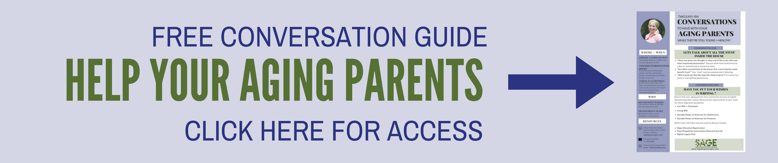 help your aging parents conversation guide from Sage Organizing Co.